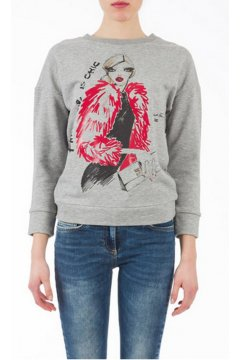 Sudadera ELISABETTA FRANCHI Fake Fur is Chic