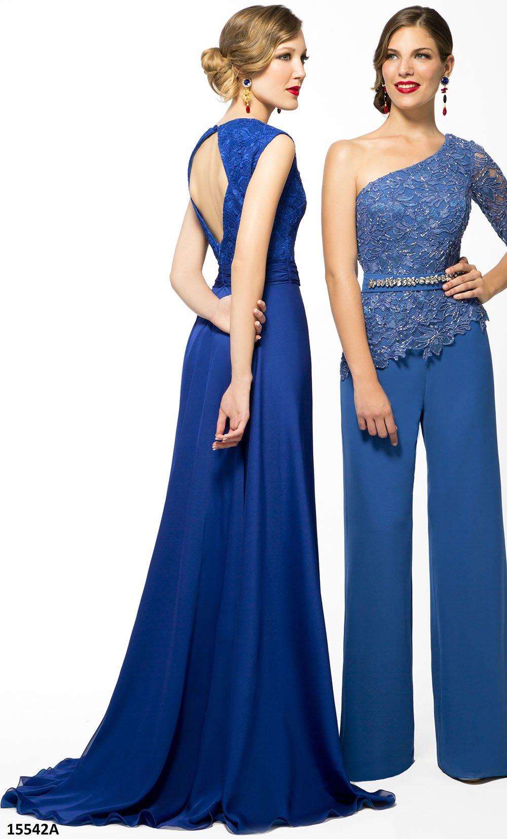 Vestido de fiesta azul tinta