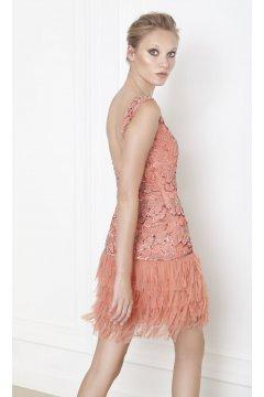 Vestido MATILDE CANO Coral Flecos