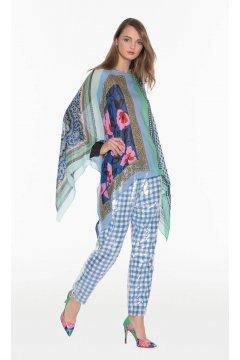 Blusa TWIN-SET Estampada Azul Picos