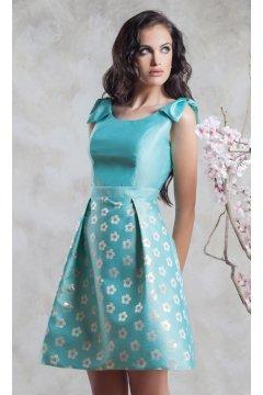 Vestido MONCHO HEREDIA Mini Agua Flores
