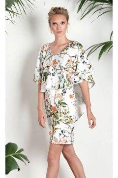 Vestido MATILDE CANO Capelina Estampado Floral