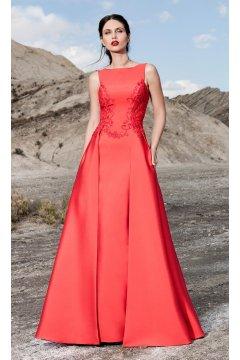 Vestido SONIA PEÑA Rojo Bordados