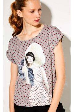 Camiseta DOLORES PROMESAS Topos Print Dolores Sombrero