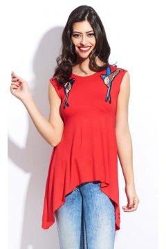 Camiseta SAHOCO Roja Pájaros