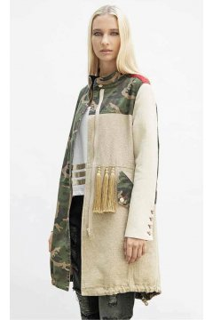 Parka PROJECT FOCE Camouflage Beige