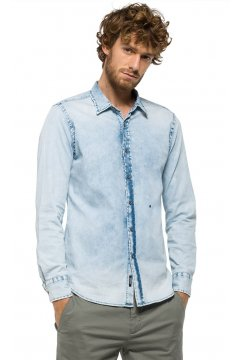 Camisa REPLAY Denim Elástica