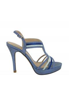 Sandalia MENBUR Tricolor Bagdad Azul