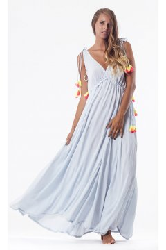 Vestido SUNDRESS Brooke Long Blue