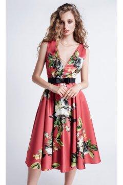Vestido MASS MATILDE CANO Estampado Vuelo