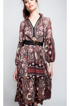 Vestido ALBA CONDE Estampado Cachemir