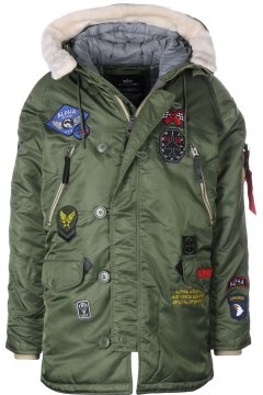 Abrigo ALPHA INDUSTRIES N3-B Patch Verde