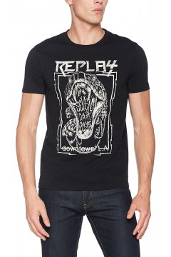 Camiseta REPLAY Estampado Serpiente