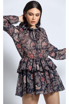 Vestido GUTS & LOVE Cherry Love Azul