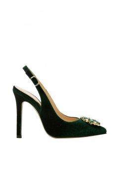 Zapato ALTEZZA Terciopelo Verde Joya
