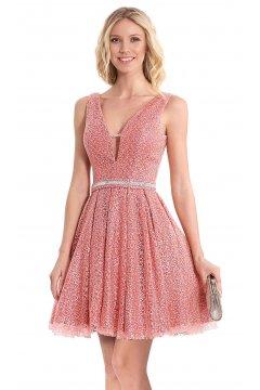 Vestido SUSANNA RIVIERI Corto Encaje Rosa