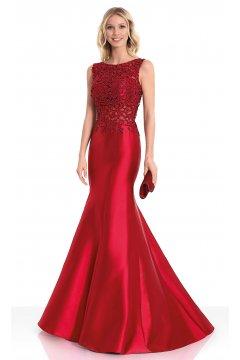 Vestido SUSANNA RIVIERI Largo Sirena Rojo