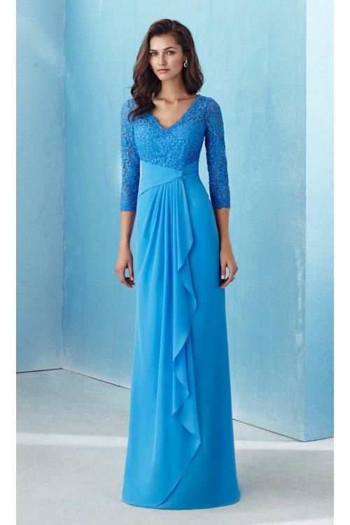 Vestido MARFIL Largo Azul