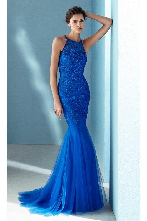 Vestido MARFIL Sirena Cobalto