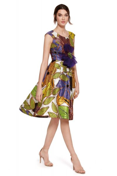 Vestido CARLA RUIZ Asimétrico