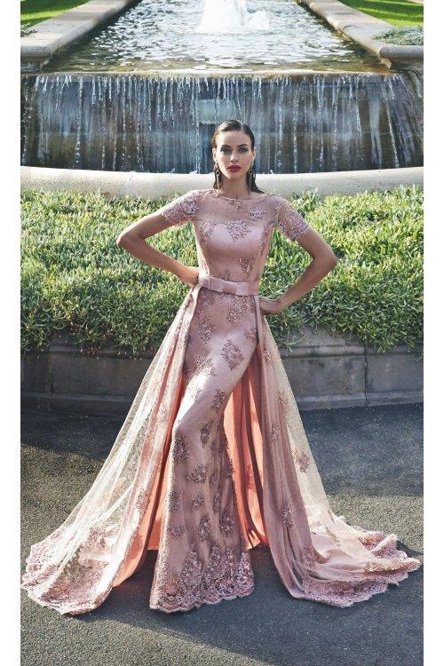 Vestido MATILDE CANO Rosa Encaje