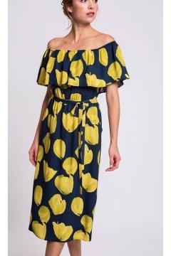 Vestido ALBA CONDE Estampado Tulipanes
