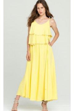 Vestido FRACOMINA Largo Amarillo