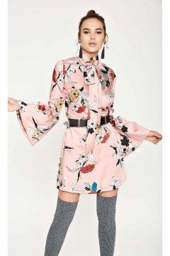 Vestido DENNY ROSE Flores Lazada Cuello