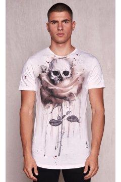 Camiseta RELIGION Blanca Print Rosa