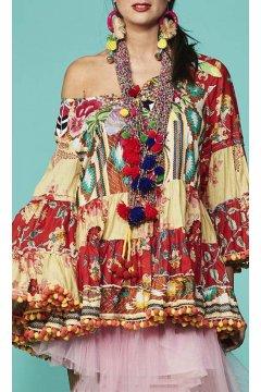 Vestido ANTICA SARTORIA Estampado Bordado
