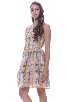 Vestido ENDLESS ROSE Bordado Floral