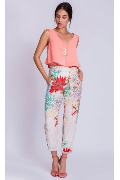 Pantalón ALBA CONDE Anudado Floral Multicolor