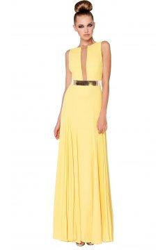 Vestido SONIA PEÑA Largo Amarillo