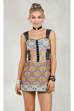 Vestido HIGHLY PREPPY Patchwork Reves