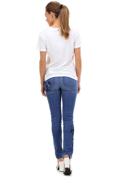 Jeans TWIN-SET Flores Strass