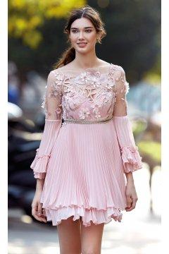 Vestido CARLA RUIZ Plisado Corto