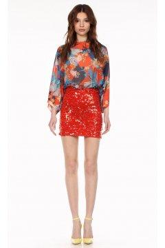 Vestido DENNY ROSE Combinado Estampado Flores