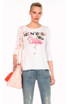 Camiseta DENNY ROSE Estampada Flamenco