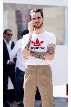 Camiseta Unisex FUCK YOUR FACE Dsquared2 Adidas Blanca