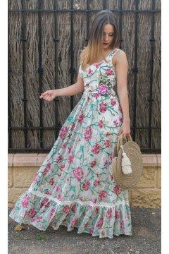 Vestido CONCEPTO PRIVEE Largo Tul Bordado Floral