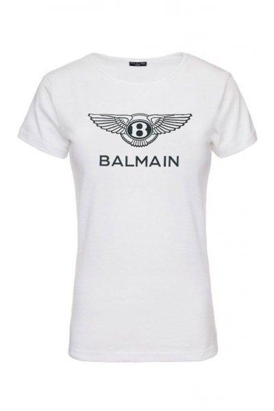 Camiseta Unisex FUCK YOUR FAKE Balmain Blanca