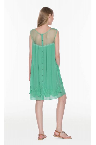 Vestido TWIN-SET Bordado Menta
