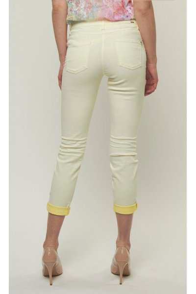 Pantalones CAMBIO Vaqueros Amarillo