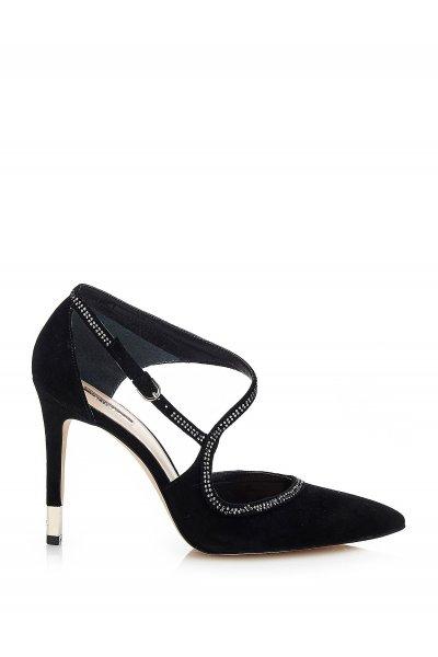 Zapato GUESS Gamuza Negro Strass