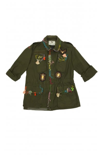 Chaqueta 5 PROGRESS Militar Kaki Custumizada