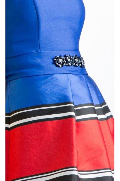 Vestido ANA TORRES Largo Listas Multicolor