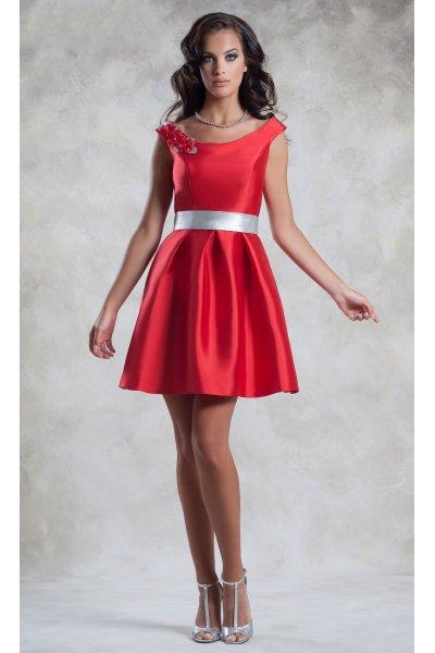 Vestido MONCHO HEREDIA Rojo Mini Vuelo