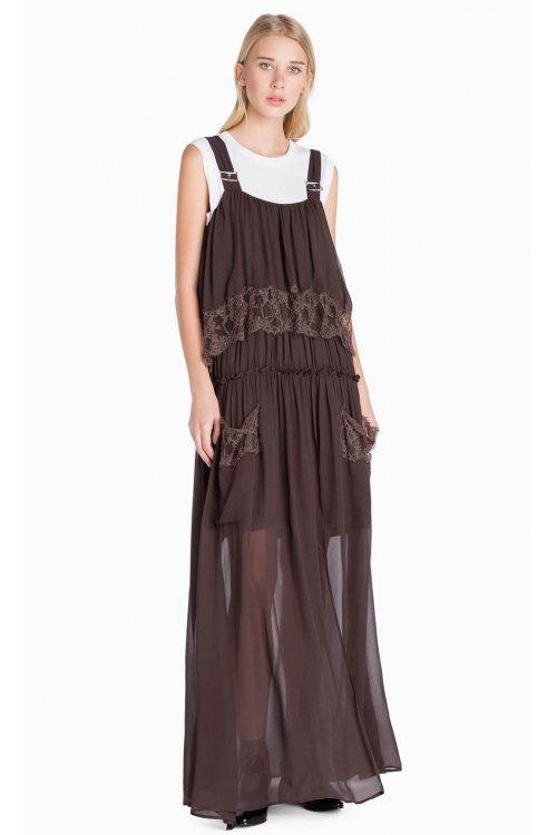 Vestido TWIN-SET Largo con Encaje