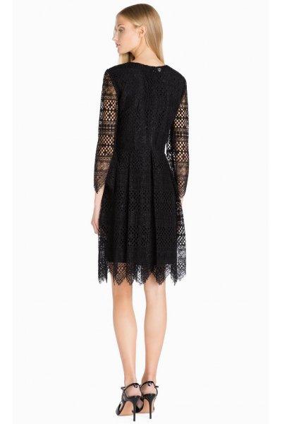 Vestido TWIN-SET de Encaje Negro