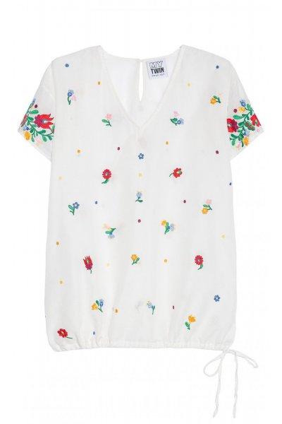 Camiseta TWIN-SET Bordada Flores